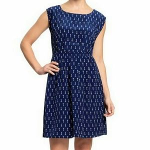 Old Navy Skeleton Key Print Navy Dress
